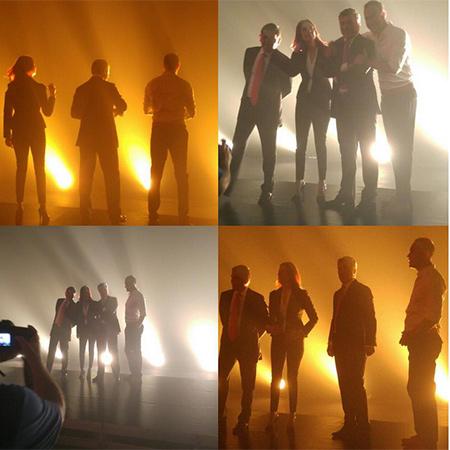 Fox TV'nin haber yüzleri Fatih Portakal, İsmail Küçükkaya, Murat Güloğlu ve Gülbin Tosun yeni sezon tanıtım çekimlerinde buluştu.