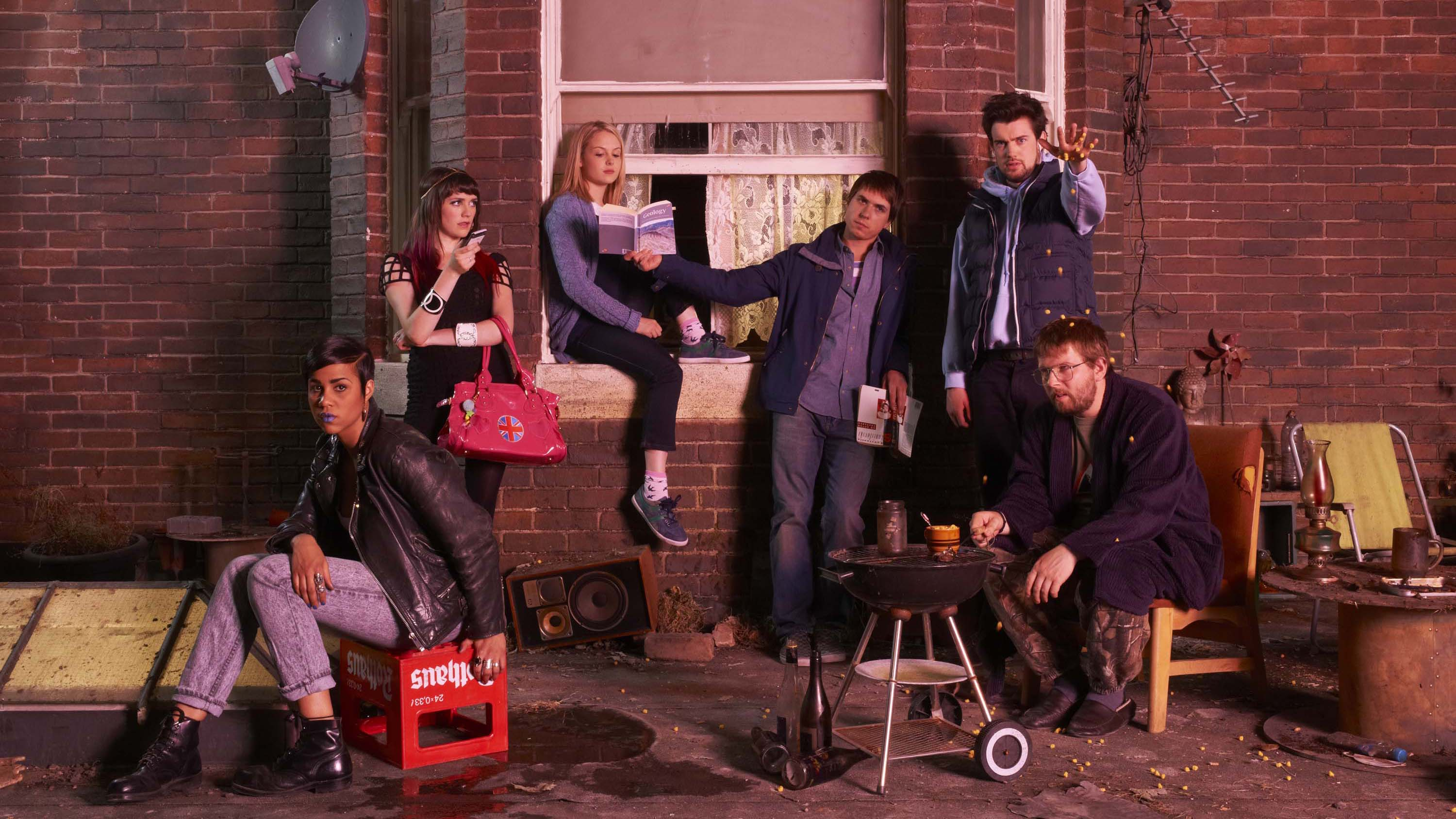 Fresh Meat Generic Zawe Ashton as Vod, Charlotte Ritchie as Oregon, Kimberley Nixon as Josie, Greg McHugh as Howard and Jack Whitehall as JP